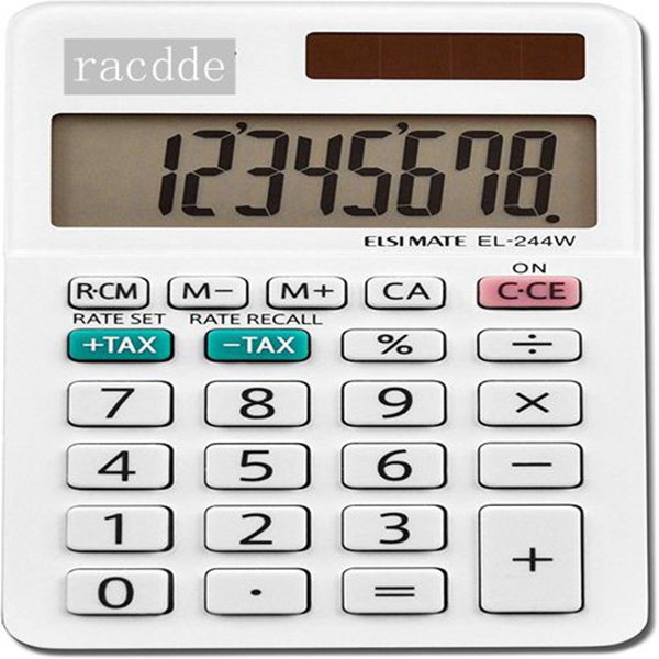 racdde EL-244WB Business Calculator, White 2.125