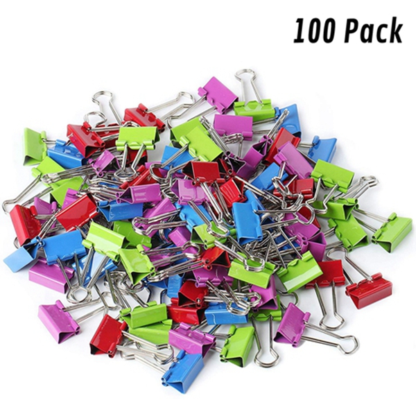 Racdde - Binder Clips, Small Binder Clips, Pack of 100 Clips, Binder Clips Small, Paper Clips, Office Supplies, Colored Binder Clips, Paper Clamps, Office Clips, Mini Clips, Clips for Paper