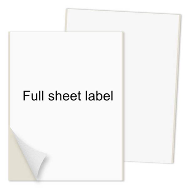 "Racdde Shipping Labels Full Sheet with Self Adhesive, Square Corner, for Laser & Inkjet Printers, 8.5"" x 11"" White, (100 Labels)"