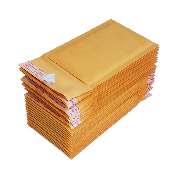 """Racdde #000 Kraft Bubble Mailers Self Seal Padded Shipping Envelopes 4"""" x 8"""", (Pack of 25)"""