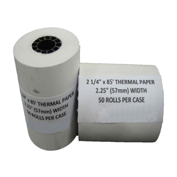 """Racdde 2 1/4"""" X 85' Thermal Paper Rolls (100 Rolls) - TH214100"""