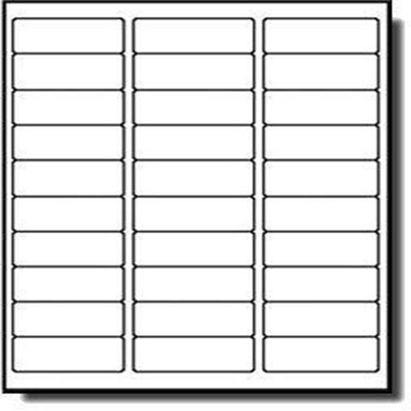 "Racdde Address Labels for Inkjet Printers 1"" x 2-5/8"", Pack of 3000 Labels"