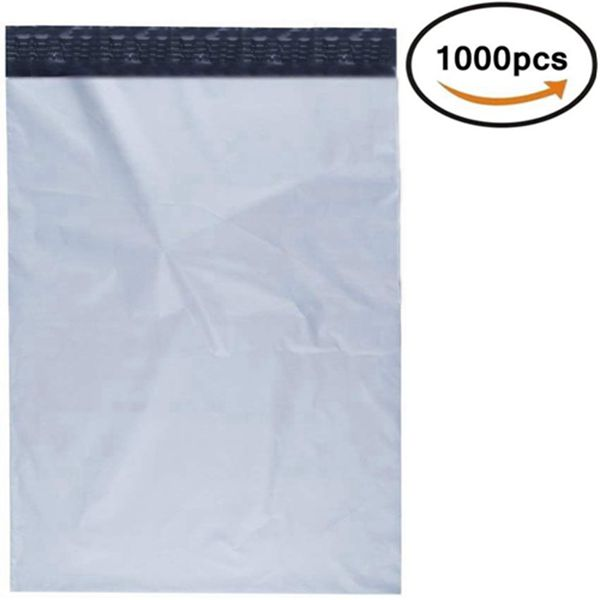 Racdde Poly Mailers Shipping Envelopes Bags Self Sealing White, 10 x 13 - inches, 1000 Bags