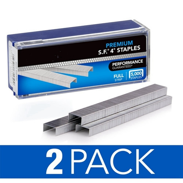 "Racdde Staples, S.F. 4, Premium, 1/4"" Length, 210/Strip, 5000/Box, 2 Pack (35450AZ) - S7035450AZ"