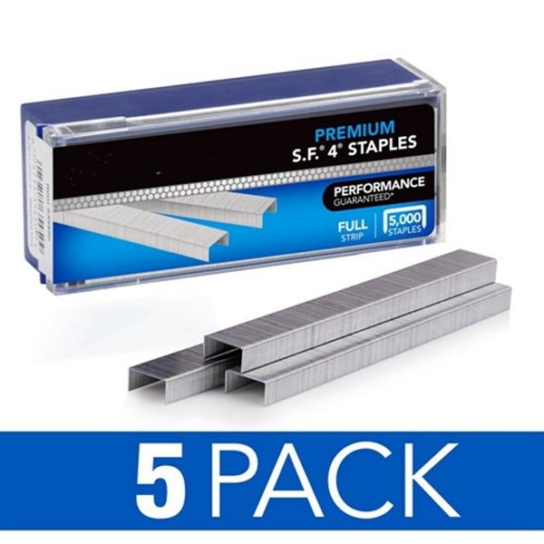 "Racdde Staples, S.F. 4, Premium, 1/4"" Length, 210/Strip, 5000/Box, 5 Pack (35481)"