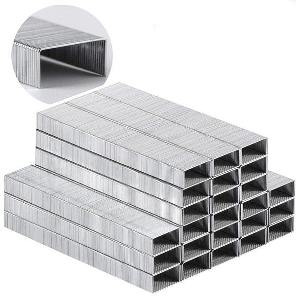 Racdde Heavy Duty Staples, 5000 Pc Staples, 25 Sheet Staple, 1/4 inch Length(23/6), Staples for Stapler, Staples Office Supply, Office Staple, Paper Staple, One Touch Staple, 100/Strip, Large Staple