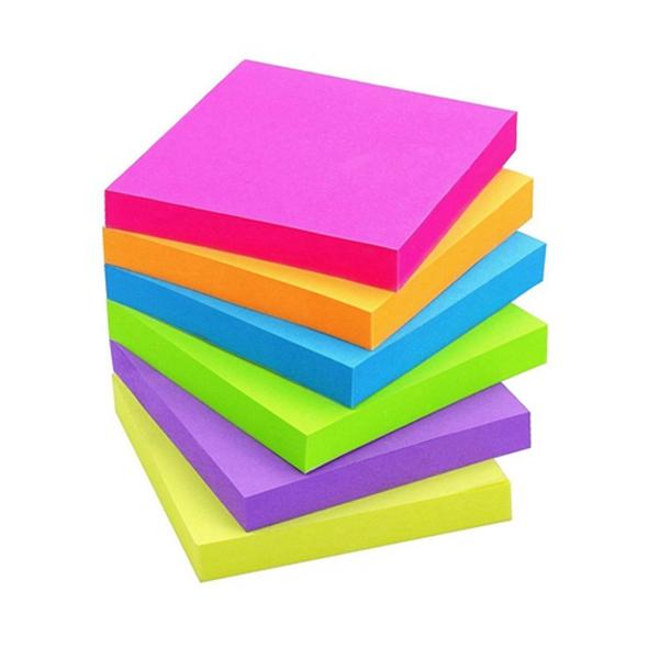 Racdde Sticky Notes 3x3 Self-Stick Notes 6 Bright Multi Colors Purple Sticky Notes 6 Pads 100 Sheet/Pad (6)
