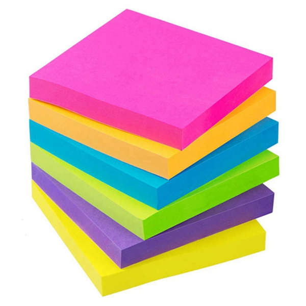 Racdde Sticky Notes 3x3 Inch 6 Bright Color 100 Sheets