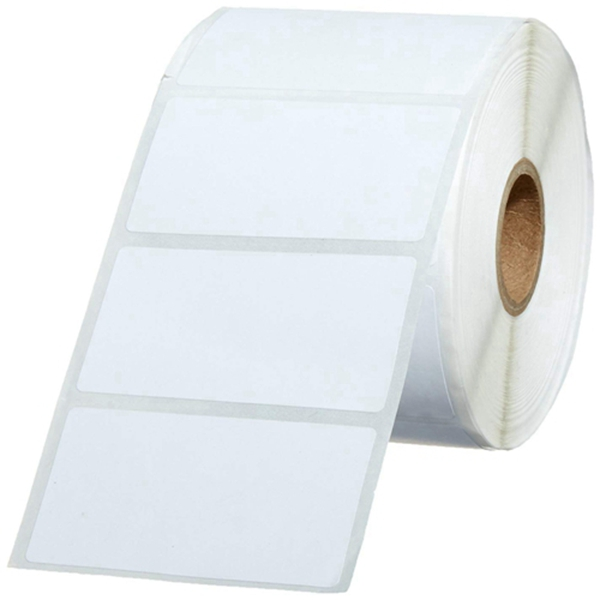 Racdde Permanent Adhesive Address Labels for Direct Thermal Printers, White, 2-1/4'' x 1-1/4'', 1,000 Labels per Roll, 12 Rolls