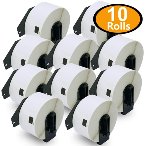 """Racdde 10 Rolls Compatible Brother DK-1208 Large Address Labels 1-1/2"""" x 3-1/2""""(38mm x 90mm)[4000 Labels with Refillable Cartridge Frame]"""