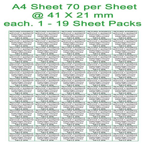 Racdde 260 Customised 40.8 x 21mm per sticker Return Address Labels Self Adhesive Custom Printed Small Stickers