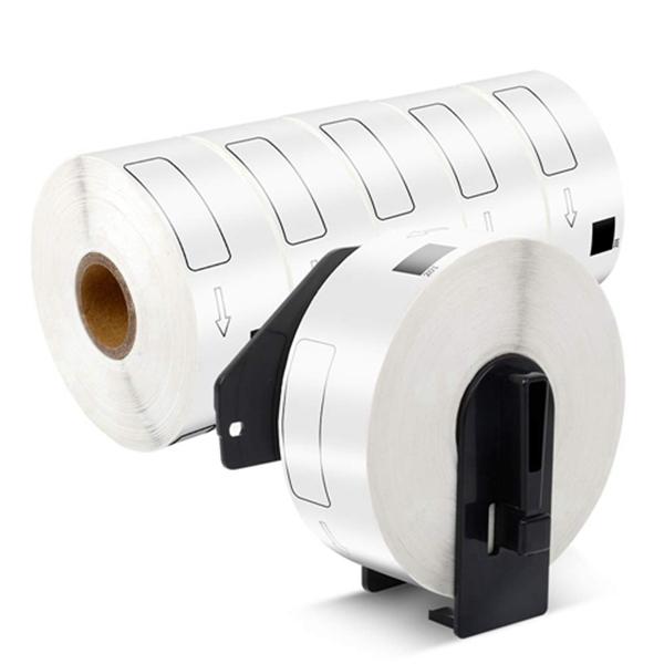 """Racdde Address Labels DK-1201 1-1/7"""" x 3-1/2"""" Compatible with Brother QL Label Printer QL 570 QL700 QL-500 QL-500A, 6-Roll with 1 Reusable Cartridge"""