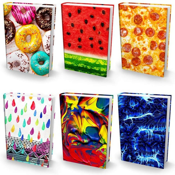 "Racdde Stretchable Book Covers – Bundle of 6 Durable Hardcover Protectors For 9"" x 11"" Jumbo Textbooks – Washable & Reusable Non-Adhesive Nylon Fabric School Book Jackets In Jumbo Ultra Print 2018"