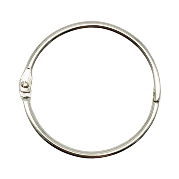 Racdde 2 Inch (15 Pack) Loose Leaf Binder Rings, Nickel Plated Steel Binder Rings,Keychain Key Rings, Metal Book Rings,Silver, for School, Home, or Office