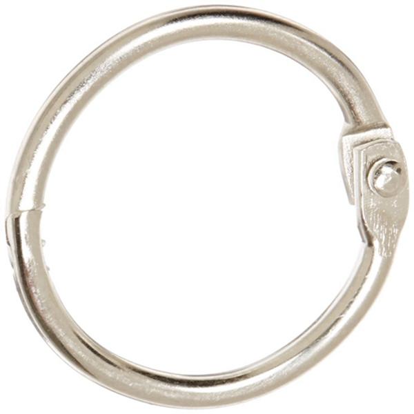 Racdde Nickel Plated Steel Loose Leaf Ring, 1 Inch, Pack of 100