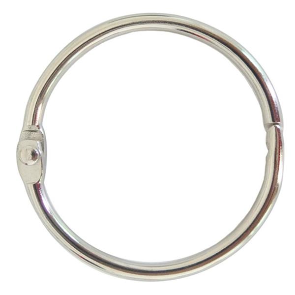 Racdde Book Binder Rings 2 Inch Office Loose Leaf Ring(20 Pack) Nickel Plated Silver