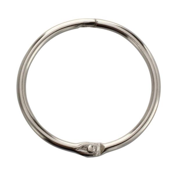 Racdde 1Inch (80 Pack) Loose Leaf Binder Rings, Nickel Plated Steel Binder Rings, Keychain Key Rings, Metal Book Rings, Silver, for School, Home, or Office
