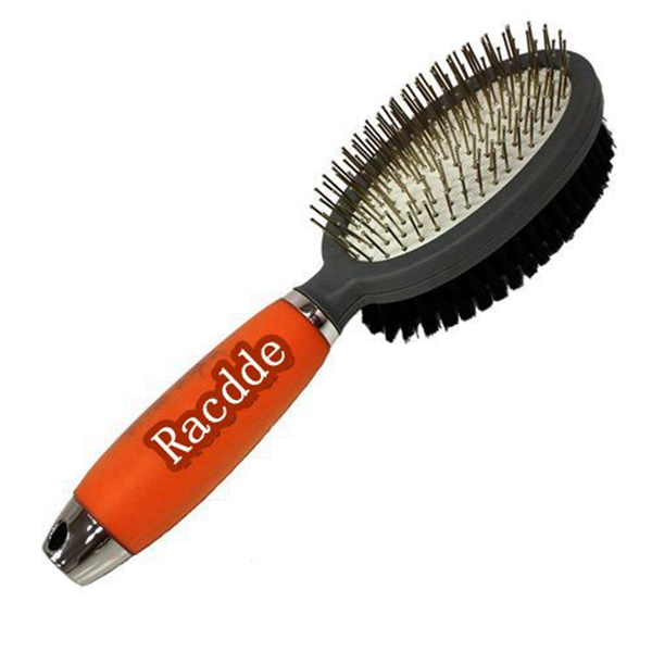 Racdde Professional Double Sided Pin and Bristle Brush for Dogs and Cats Grooming Comb Cleans Pets Shedding and Dirt for Short Medium or Long Hair