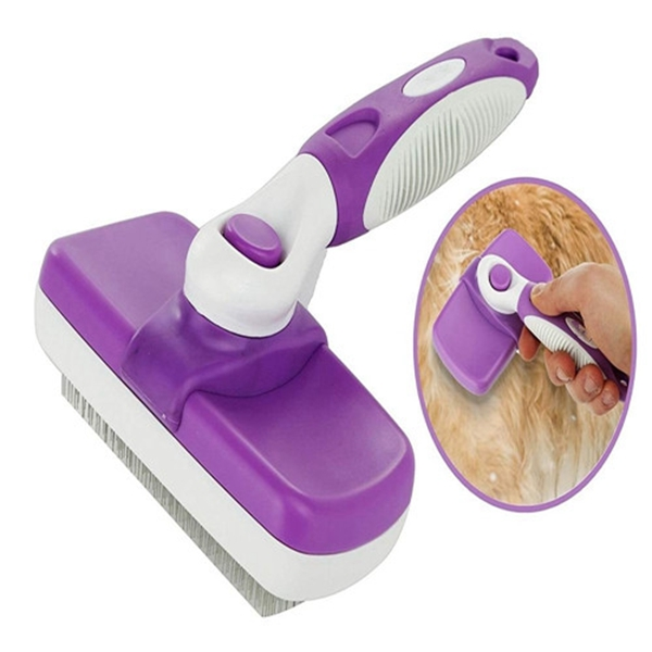 Racdde Self Cleaning Slicker Dog Brush and Cat Brush-Easy to Clean Dog Grooming Brush Removes Tangles, Loose Hair, Best Dog Slicker Brush for Dogs,Cats,Rabbits, Poodles