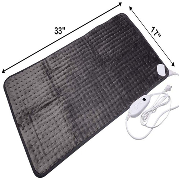 Racdde 17''x33'' XXXL King Size Heating Pad with Fast-Heating Technology&6 Temperature Settings, Microplush Fibers Electric Heating Pad/Pain Relief for Back/Neck/Shoulders/Abdomen/Legs (Dark Grey)
