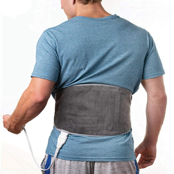 Racdde PureRelief Lumbar & Abdominal Heat Paid - Fast-Heating Technology with 4 Heat Settings, Adjustable Belt, Hot/Cold Gel Pack & Storage Bag - Ideal for Back Pain & Abdominal Cramps, Gray
