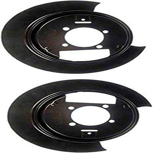 Racdde 035310 Disc Brake Steel Dust Shield Backing Plate Set Of 2 Fits Rear Left & Right (Models With 4WD & Disc Brakes; Replaces 88935987, 88935988)