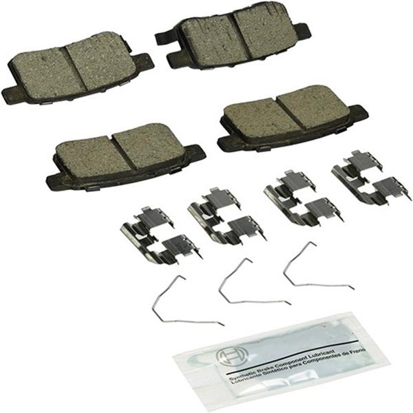 Racdde BC1451 QuietCast Premium Ceramic Disc Brake Pad Set For: Acura TSX; Honda Accord, Rear