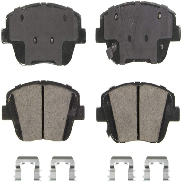Racdde QuickStop ZD1444 Ceramic Disc Pad Set Includes Pad Installation Hardware, Front