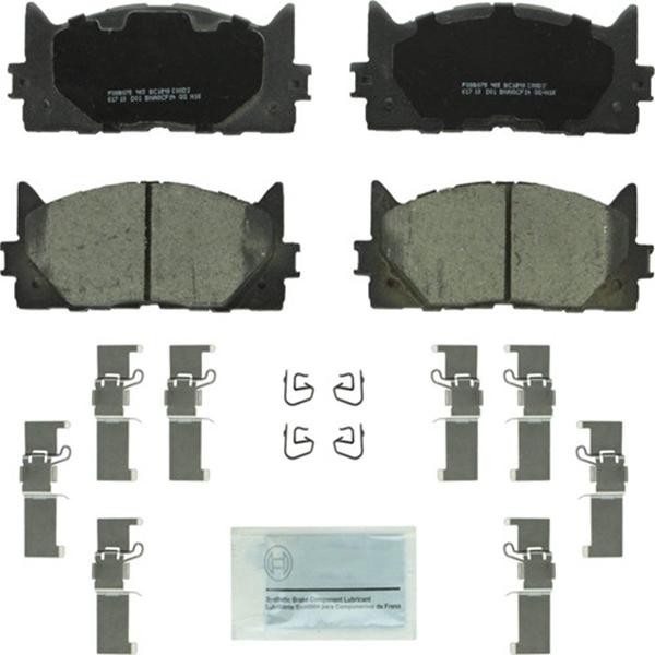 Racdde BC1293 QuietCast Premium Ceramic Disc Brake Pad Set For: Lexus ES300h, ES350; Toyota Avalon, Camry, Front