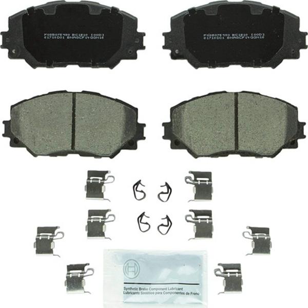 Racdde BC1210 QuietCast Premium Ceramic Disc Brake Pad Set For: Lexus HS250h; Pontiac Vibe; Scion xB, xD; Toyota Corolla, Matrix, Prius V, RAV4, Front
