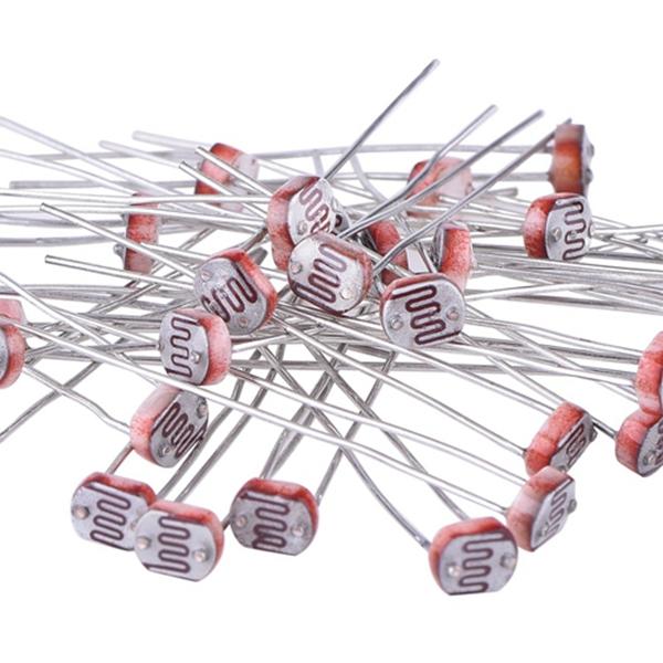 Racdde 30 Pieces Photoresistor Photo Light Sensitive Resistor Light Dependent Resistor 5 mm GM5539 5539