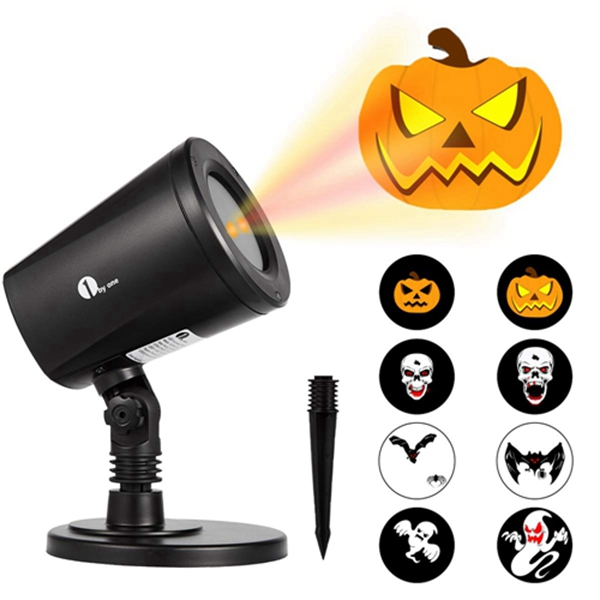 Racdde Halloween Led Pattern Projection Lights Auto-Shifting Images & Switchable Pattern Outdoor/Indoor Use, IP65 Water-Resistant