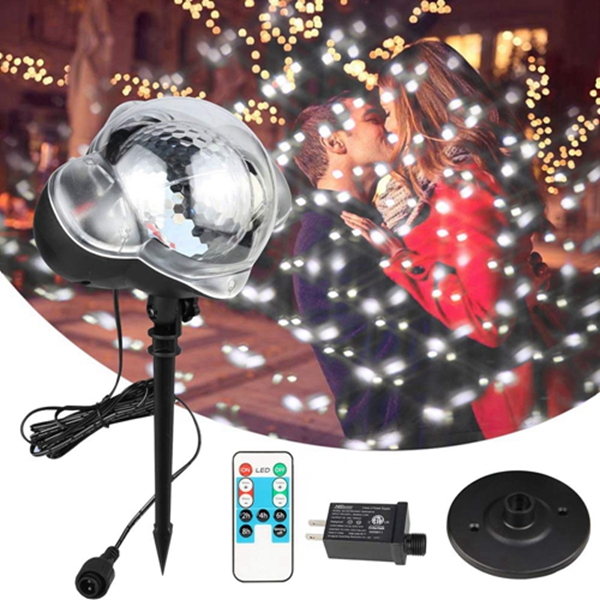 Racdde Christmas Snowfall Led Lights - Fairy Lights with Remote, Baby Night Light for Gift Christmas Halloween Holiday Party Outdoor Indoor