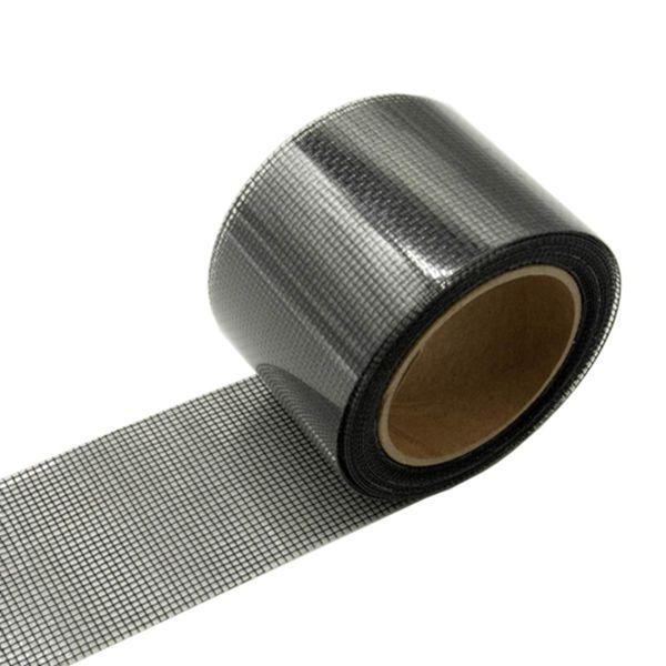 """Racdde Screen Patch Repair Kit, (2""""Wx140""""L) Patch, Door Window Screen Repair Tape Fiberglass Covering Mesh, 3-Layer Strong Adhesive & Waterproof Repair Holes Tears, Black"""