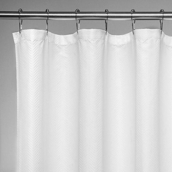 "Racdde 'Herringbone' Fabric Shower Curtain - 70"" x 72"" - White Shower Curtain Fabric, Mildew Resistant Shower Curtains for Bathroom Shower Curtains Bathroom Curtain"