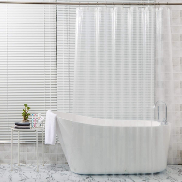 """Racdde Shower Curtain Liner, 72"""" W x 84"""" H EVA 10G Thick Bathroom Shower Curtain with Heavy Duty Clear Stones Non-Toxic No Chemical Odor Eco-Friendly and Rust-Resistant Grommet Holes-Clear"""