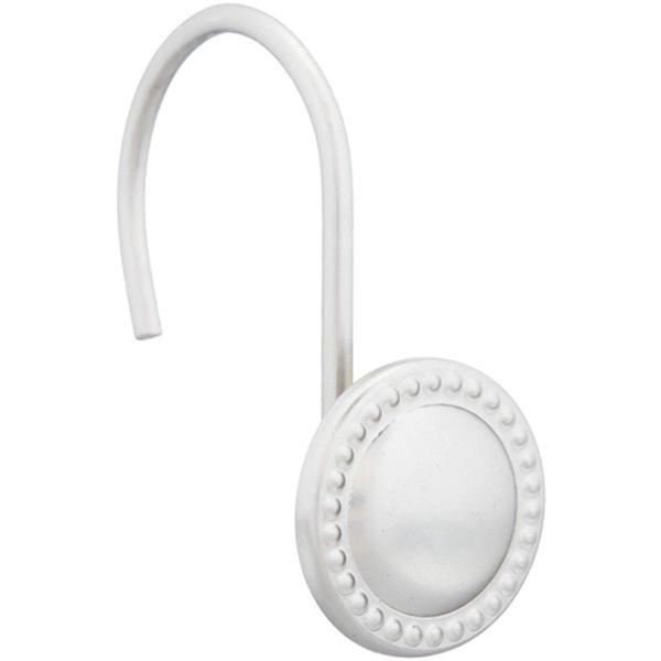 Racdde Shower Curtain Hooks - Beaded Circle, Nickel