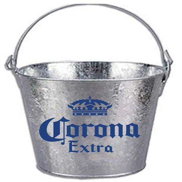 Racdde Corona Beer Brand Themed Galvanized Steel Bucket