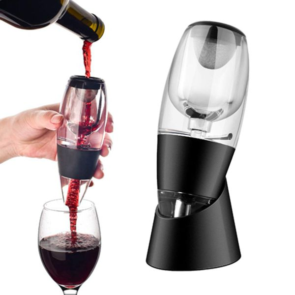 Wine Decanter, Racdde Wine Aerator Decanter with No-drip Stand for Red Wine, Multi Stage Design with Gift Box and Travel Pouch, Home and Party Use