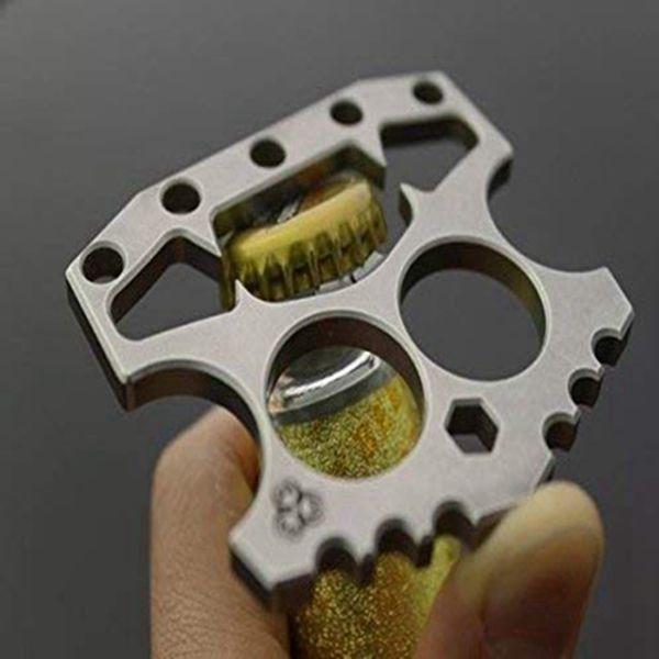 Racdde Double Fingers Knuckles Fist Blades Bottle Opener Hex Key