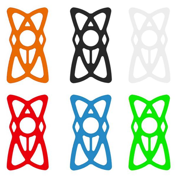 Racdde Phone Rubber Band Multi Color Replacement Security Rubber/Silicone Elastic Bands for Bicycle Bike, Motorcycle, Handlebar, Roll Bar Mount, Phone Mount Bands Universal Size 6-Pack
