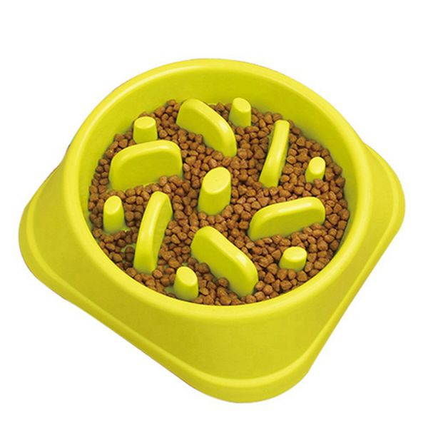 Racdde Slow Feeder Dog Bowl, Slow Feed Dog Bowl Dog Food Bowls to Slow Down Eating Eco-Friendly Medium Size Green