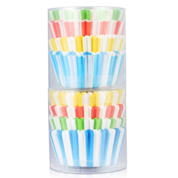 Racdde Baking Paper Cups Muffin Liners Cupcake Paper Liners Disposable Baking Cup Colorful Cup Standard Size for Baking, Pack of 200