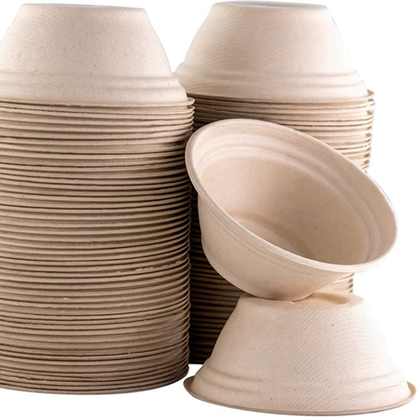 Racdde Restaurant-Grade, Biodegradable 8 Oz Bowls Bulk 100 Pk. Great for Ice Cream, Chili or Soup. Disposable, Compostable Wheatstraw Bowls are Allergen-Free, Leakproof and Microwave Safe for Hot or Cold Use