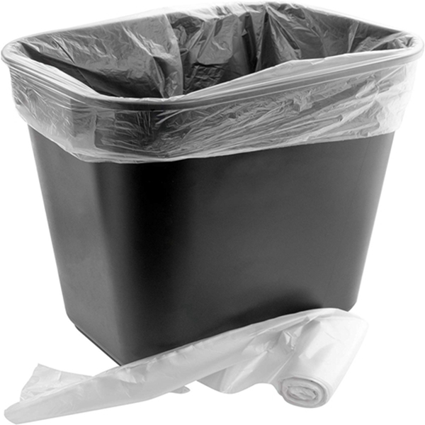Racdde Space-Saving Trash Can and 100x 4 Gal. Leak-Proof Liners Set. Small Black Plastic Wastebasket and Clear Bags Great for Bathroom, Kitchen or Home Office. Garbage Bin Fits Under Most Desks and Cabinets