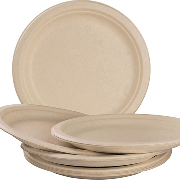 Racdde Pro-Grade, Biodegradable 10 Inch Plates. Bulk 100 Pack Great for Lunch, Dinner Parties and Potlucks. Disposable, Compostable Wheatstraw Paper Alternative. Sturdy, Soakproof and Microwave Safe
