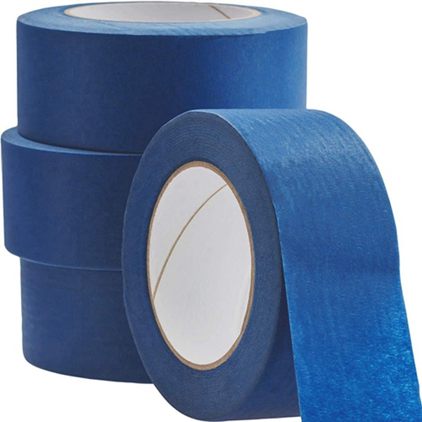 Racdde No-Residue 2 Inch, 60 Yard Blue Painters Tape 4 Pk. Easy-Tear, Pro-Grade Removable Masking Tape Great for Home, Office or Commercial Contractor. Clean, Drip-Free Painting with Wide Crepe Paper Rolls