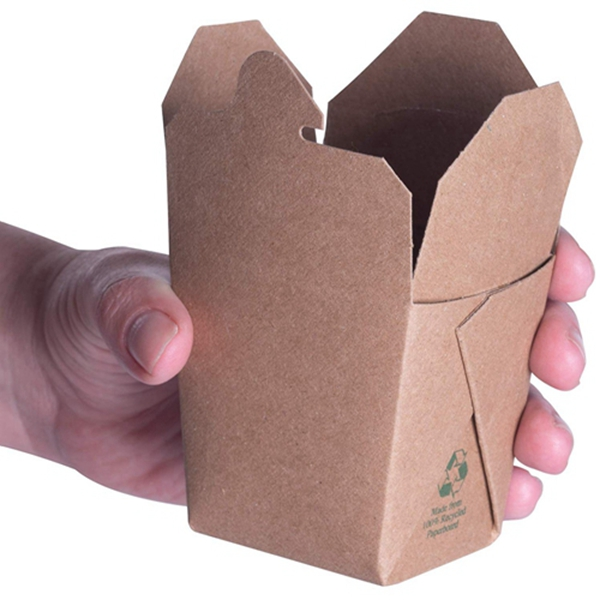 Microwavable Brown Chinese 8 oz Mini Take Out Boxes. 50 Pack by Racdde. Stackable Pails are Recyclable. Ideal Leak and Grease Resistant Half Pint to-Go Container for Restaurants and Food Service.