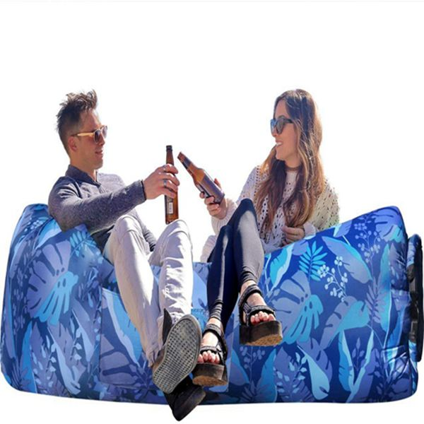 Racdde Inflatable Lounger Air Sofa Hammock-Portable,Water Proof& Anti-Air Leaking Design-Ideal Couch for Backyard Lakeside Beach Traveling Camping Picnics & Music Festivals
