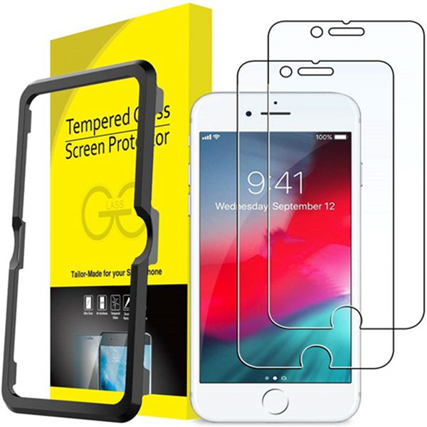 Racdde Screen Protector for Apple iPhone 8, iPhone 7, iPhone 6s, iPhone 6, 4.7-Inch, Tempered Glass Film with Easy-Installation Tool, 2-Pack